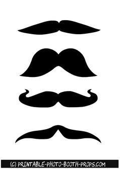 Free Printable Moustaches Props