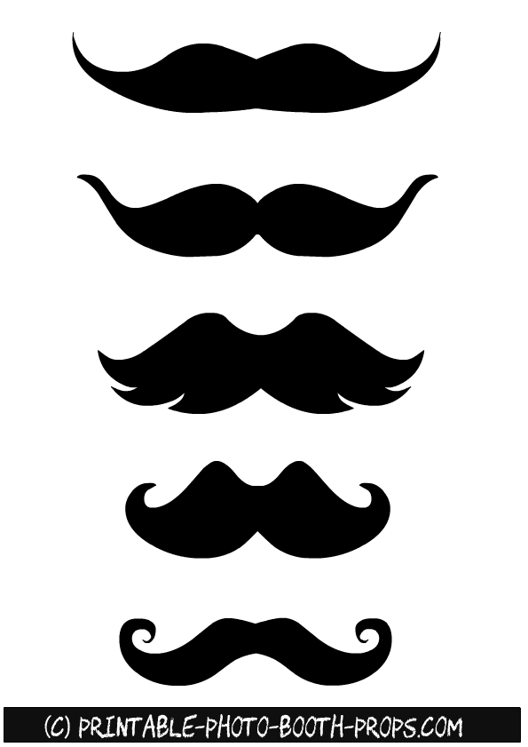 photograph regarding Free Mustache Printable called 45 Absolutely free Printable Moustaches Photograph Booth Props