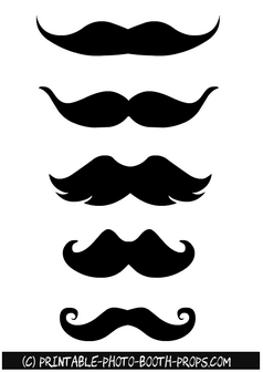 Free Printable Thick Moustaches Photo Booth Props