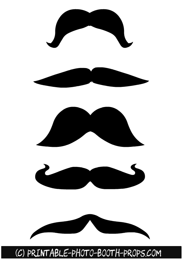 45 Free Printable Moustaches Photo Booth Props