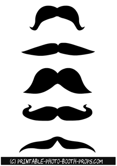 Moustaches Props Printables for Photo Booth