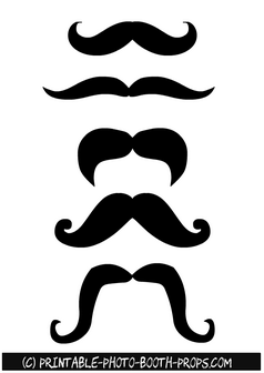 Moustaches Photo Booth Props