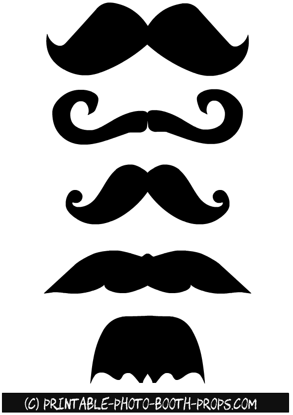 image relating to Printable Moustaches identify 45 Absolutely free Printable Moustaches Photograph Booth Props