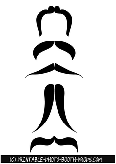 Printable Moustaches for Photo Booth