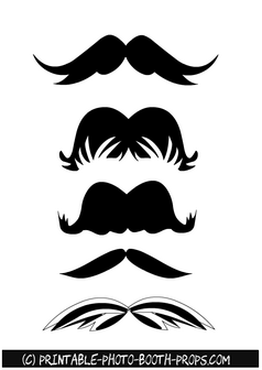 Free Printable Black Moustaches Photo Booth Props