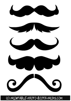 Moustaches Props in different Styles