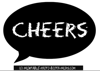 Cheers Speech Bubble Prop