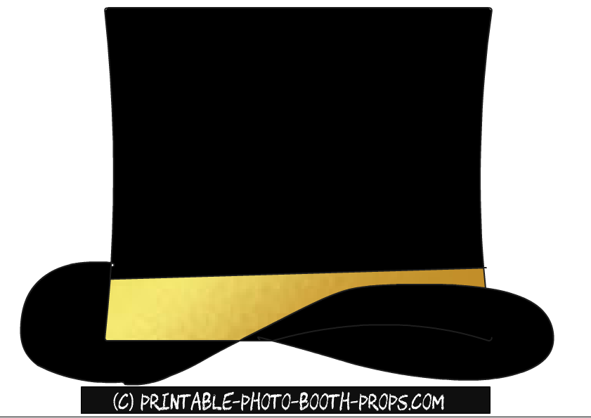 black and gold hat prop