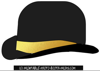 Cute Black and Gold Hat Prop