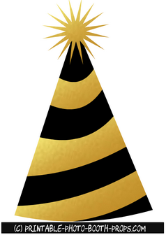 Black and Gold Party Cap Prop