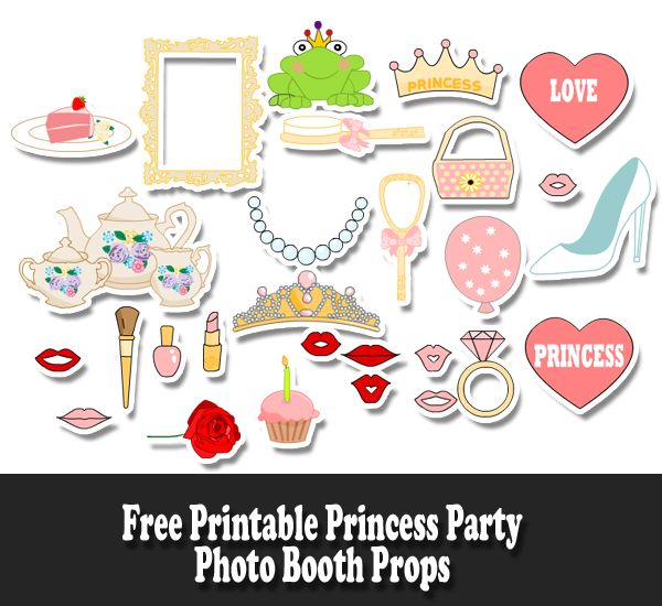 Free Printable Princess Party Photo Booth Props