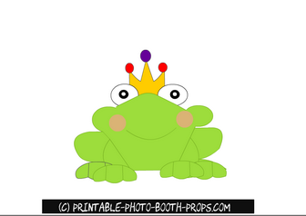 Frog Prince Photo Booth Prop