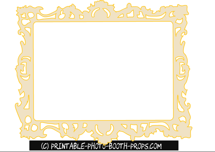 mirror will template - free printable princess party photo booth props