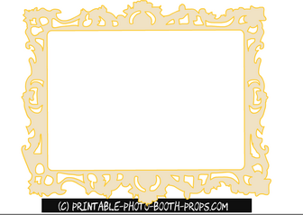 Free Printable Mirror Frame Princess Party Prop