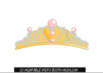 Princess Tiara Photo Booth Prop Printable