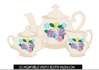 Tea Pot, Milk Pot and Sugar Pot Props