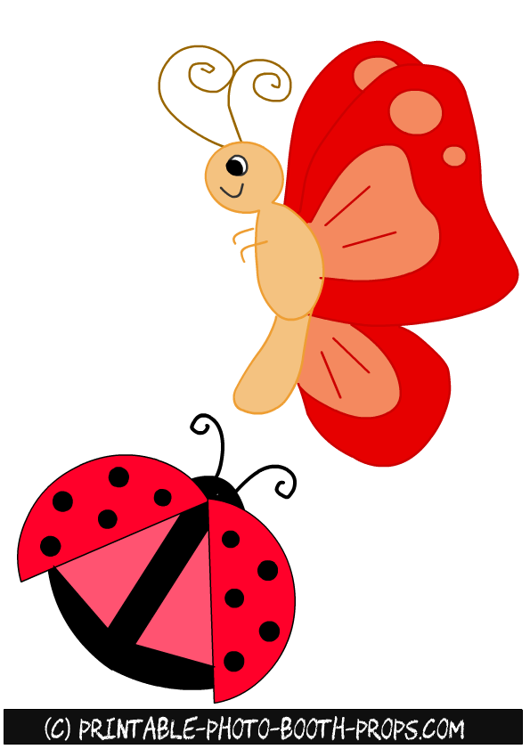 Free printable spring photo booth props free printable butterfly and ladybug spring props maxwellsz