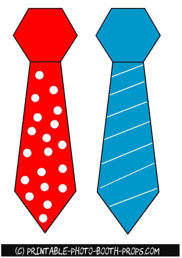 photo regarding Printable Ties referred to as Totally free Printable Spring Image Booth Props