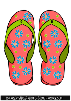 Colorful Flip Flops Photo Booth Prop