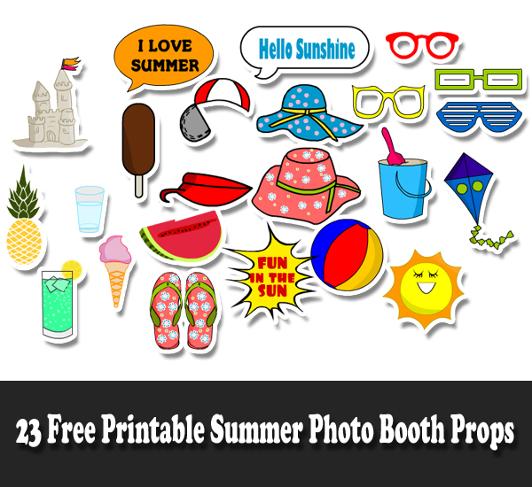 photo relating to Have a Ball This Summer Printable referred to as 23 Free of charge Printable Summer months Photograph Booth Props