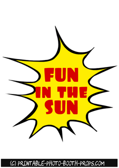 Fun in the Sun Text Prop