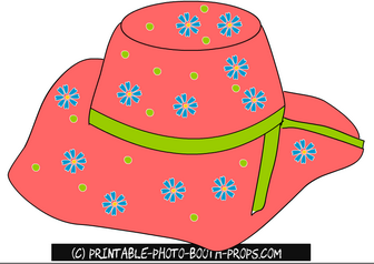 Colorful Summer Hat Prop