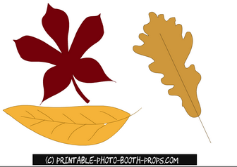 Free Printable Autum Leaves Photo Booth Props