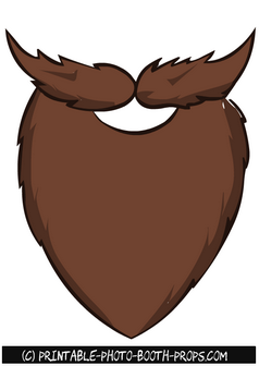 Brown Beard and Moustaches Prop