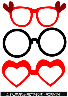 Free Printable Valentine Glasses Props