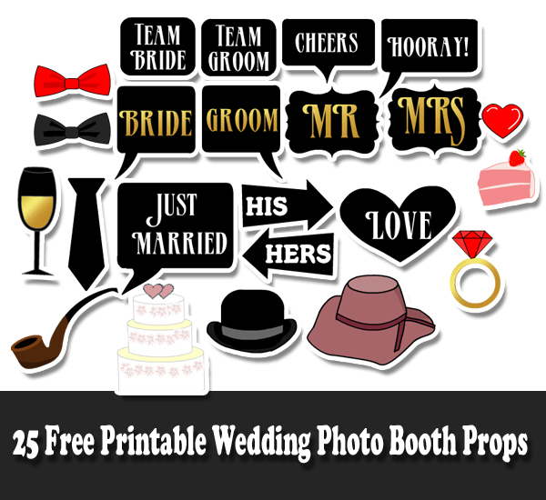 photo booth props template free download - free printable wedding photo booth props