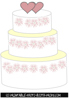 Free Printable Cake Prop for Wedding Photo Booth